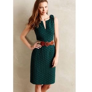Anthro, Tabitha Green V Neck Textured Mini Dress